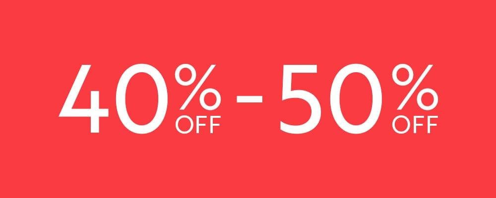 40-50%OFF