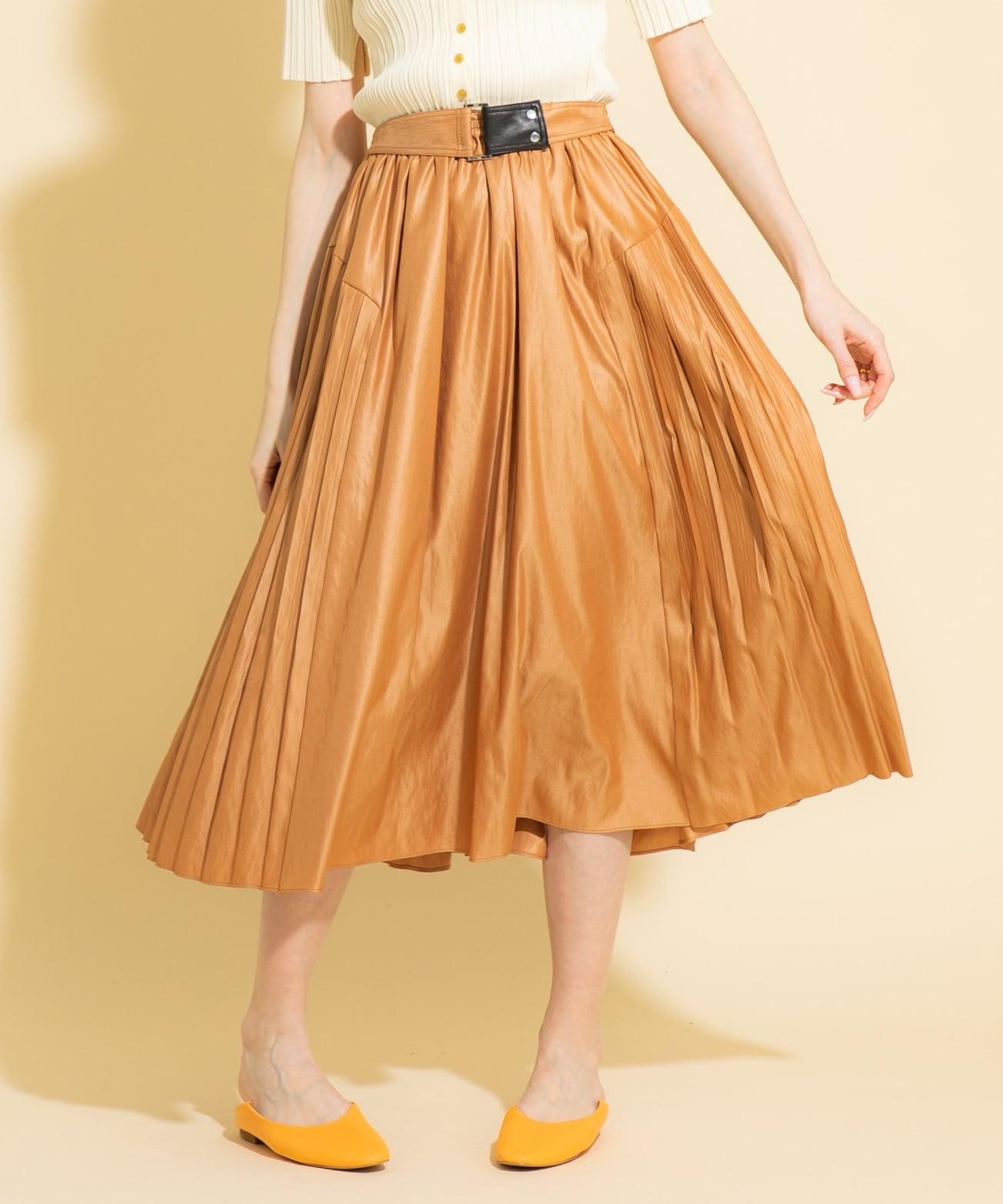 スカート ギャザー